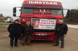 KULUDAN Suriyeye İnsani Yardım Aracı Reyhanlıda
