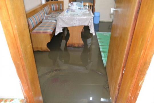 Kulu'da Sağanak Nedeniyle Bazı Evleri Su Bastı
