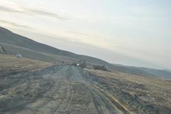 Kulu'da Mahalle yolları kumlanıyor