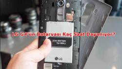 LG G4 Ne Kadar Pil Ömrü Sunuyor?