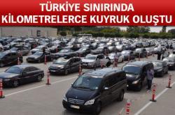 Gurbetçiler Türkiye sınırında uzun kuyruklar oluşturdu