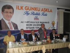AKPARTİ  İSTİŞARE TOPLANTISI YAPILDI.
