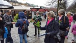 Stockholm'de peygamber aşkına 6 bin 236 gül dağıtıldı