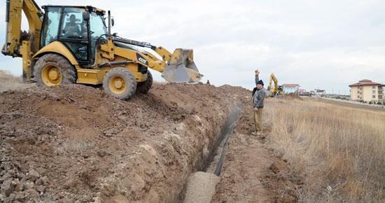 4 Mahalleye 80 KM Kanalizasyon