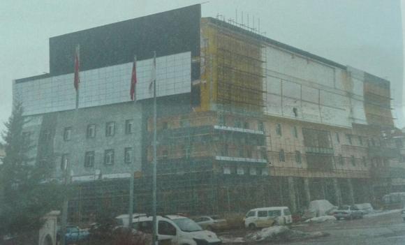 Ticaret ve Sosyal Merkez Binası Yapımında Sona Doğru