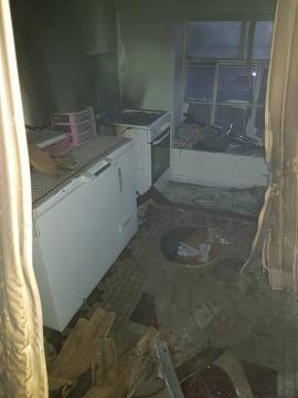 Karacadağ da Ev Yangını