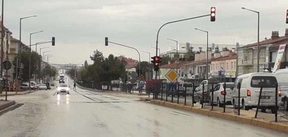 Kulu'da sağanak yağmur bereketi