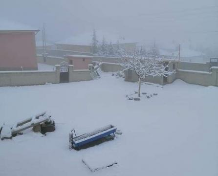 Kulu'da Kar Yağışı